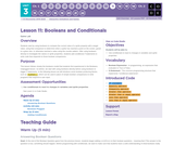 CS Discoveries 2019-2020: Interactive Animations and Games Lesson 3.11: Booleans and Conditionals