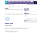 CS Fundamentals 5.16: Functions with Harvester