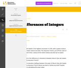 7.NS Differences of Integers