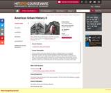 American Urban History II, Fall 2011