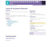 CS Fundamentals 5.15: Functions in Minecraft
