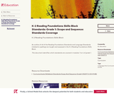K-2 Reading Foundations Skills Block Standards: Grade 1: Scope and Sequence: Standards Coverage