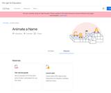 CS First - Animate a Name