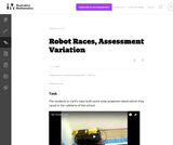 7.RP Robot Races, Assessment Variation