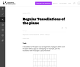 A-CED Regular Tessellations of the plane