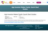 App Inventor Maker Cards