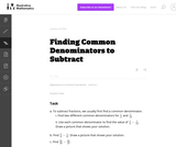 Finding Common Denominators to Subtract