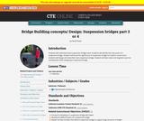 Bridge Building Concepts and Design: Suspension Bridges  3 of 4