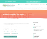 MAEIA Performance Assessment –  Audience Etiquette and Impact