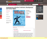 Contemporary Literature: Literature, Development, and Human Rights, Spring 2008