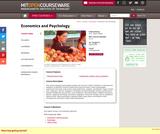 Economics and Psychology, Spring 2004