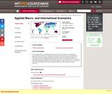 Applied Macro- and International Economics, Spring 2011