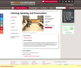 Listening, Speaking, and Pronunciation, Fall 2004