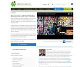 Economics of the Media