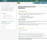 Bringing Algorithms into the Classroom