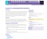 CS Discoveries 2019-2020: Data and Society Lesson 5.14: Automating Data Decisions