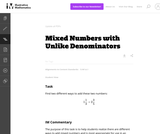 Mixed Numbers with Unlike Denominators