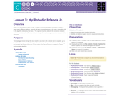 CS Fundamentals 3.3: My Robotic Friends Jr.