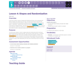 CS Discoveries 2019-2020: Interactive Animations and Games Lesson 3.4: Shapes and Randomization