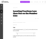 Locating Fractions Less than One on the Number Line