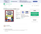 1st Grade Social Studies FREEBIE Lesson by Just Add Glitter
