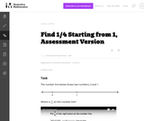 3.NF Find 1/4 Starting from 1, Assessment Version