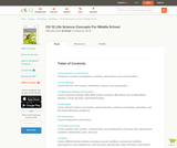 CK-12 Life Science Concepts for Middle School