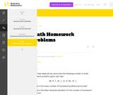 6.SP Math Homework Problems