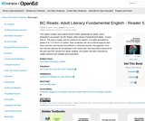 BC Reads: Adult Literacy Fundamental English – Reader 5