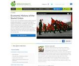 Economic History of the Soviet Union
