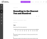 3.NBT Rounding to the Nearest Ten and Hundred
