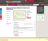 Advanced Analytic Methods in Science and Engineering, Fall 2004