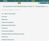 Ecosystems and Biodiversity Lesson 3 : Ecosystems