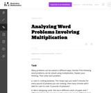 Analyzing Word Problems Involving Multiplication