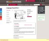 Language Acquisition I, Spring 2002
