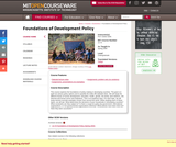Foundations of Development Policy, Spring 2009