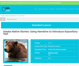 Alaska Native Stories: Using Narrative to Introduce Expository Text