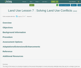 Land Use Lesson 7 : Solving Land Use Conflicts