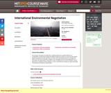 International Environmental Negotiation, Fall 2010